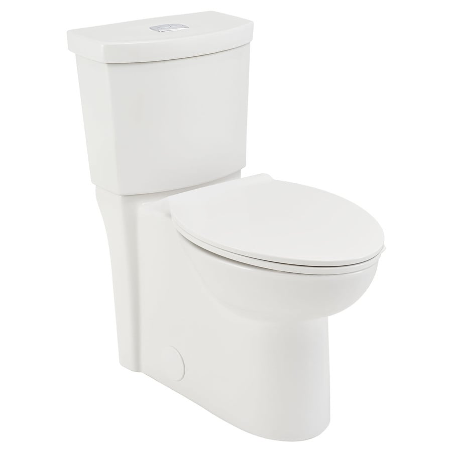 American Standard Clean White Watersense Labeled Dual Flush Elongated Chair Height 2 Piece Toilet 12