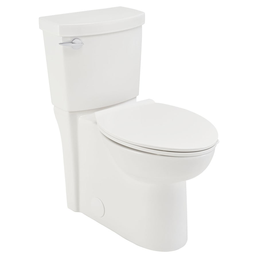 American standard clean white watersense labeled elongated chair height 2 piece toilet 12 in