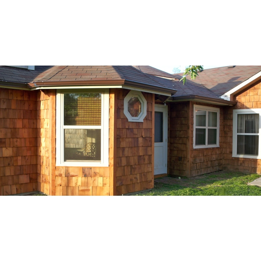 Shop Red Cedar Untreated Wood Siding Shingles At Lowes Com