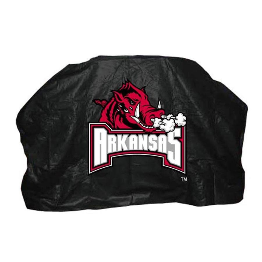 Seasonal Designs, Inc. 59-in x 42-in Vinyl Arkansas Razorbacks Grill Cover Fits Most Universal