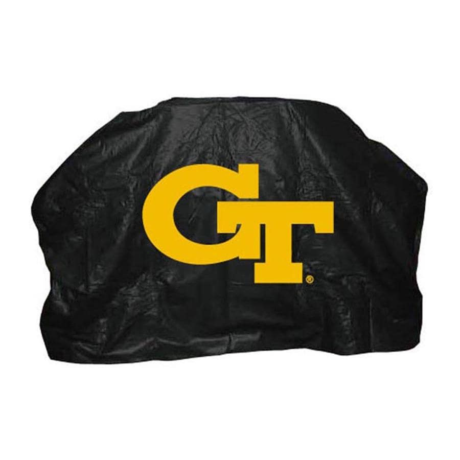 Seasonal Designs, Inc. 59-in x 42-in Vinyl Georgia Tech Yellow Jackets Grill Cover Fits Most Universal