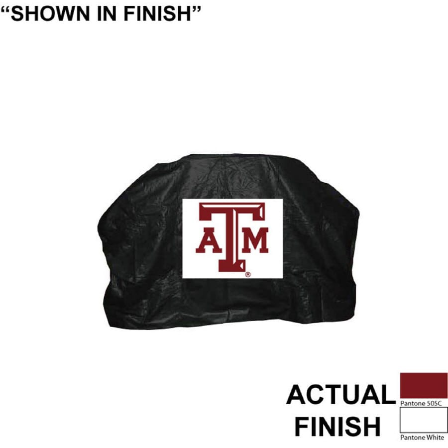 Seasonal Designs, Inc. 68-in x 43-in Vinyl Texas A&M Aggies Grill Cover Fits Most Universal