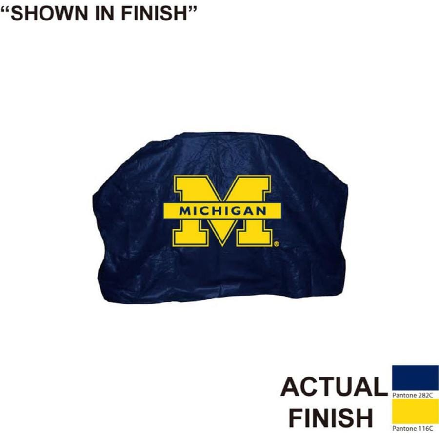 Seasonal Designs, Inc. 68-in x 43-in Blue Vinyl Michigan Wolverines Cover