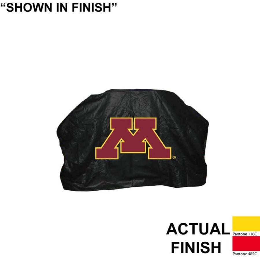 Seasonal Designs, Inc. 68-in x 43-in Vinyl Minnesota Golden Gophers Grill Cover Fits Most Universal