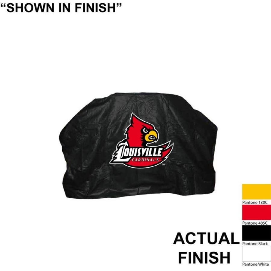 Seasonal Designs, Inc. 68-in x 43-in Vinyl Louisville Cardinals Grill Cover Fits Most Universal