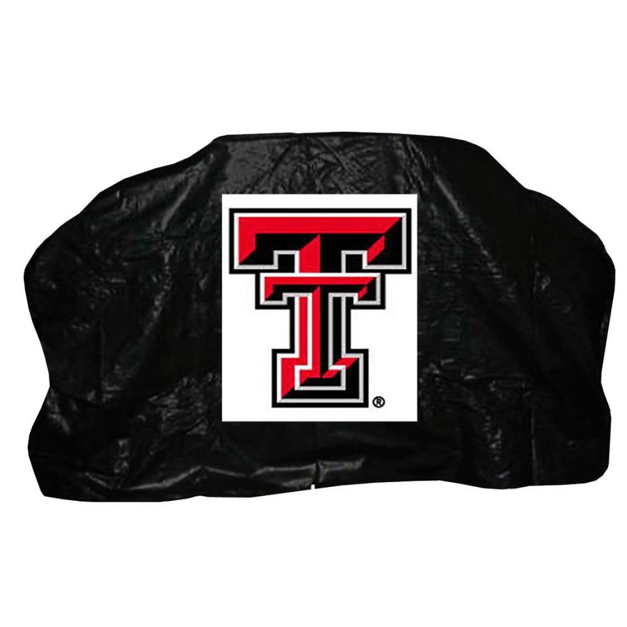 Seasonal Designs, Inc. 68-in x 43-in Black Vinyl Texas Tech Gas Grill Cover Fits Models 68