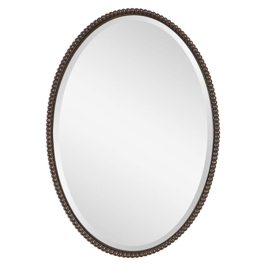 Global Direct 32 In L X 22 W Oil Rubbed Bronze Framed Oval Mirror Only