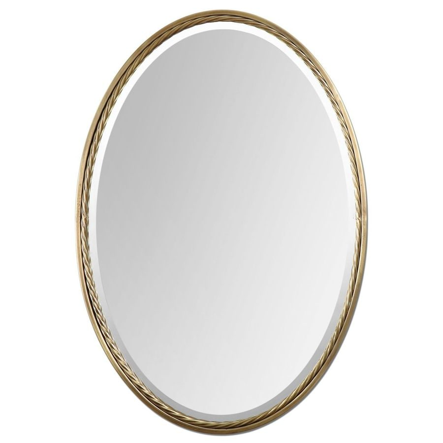 Global Direct Brass Beveled Oval Wall Mirror