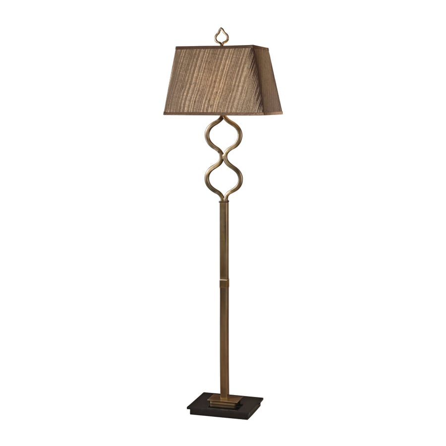 Global Direct 63.5-in 3-Way Switch Coffee Bronze Shaded Floor Lamp Indoor Floor Lamp with Fabric Shade