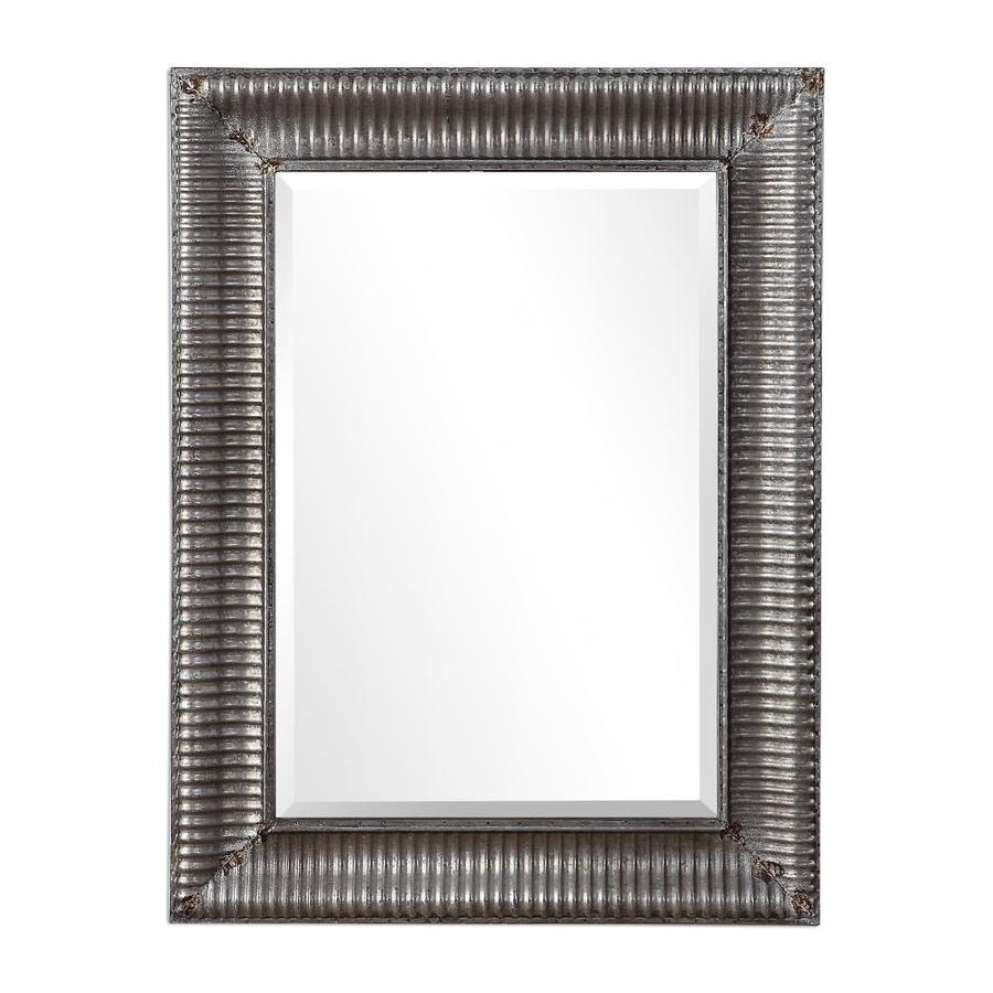 Global Direct 40 In L X 30 W Raw Galvanized Metal With Rust Mirror Only