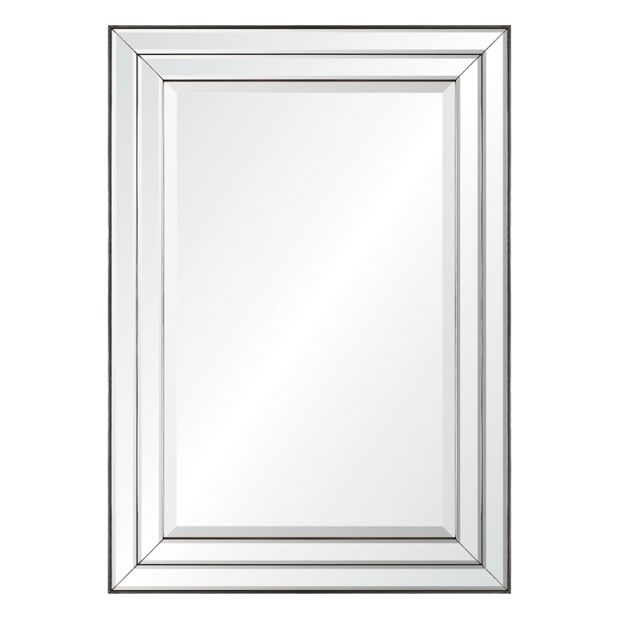 shop allen roth mirror on mirror beveled wall mirror at
