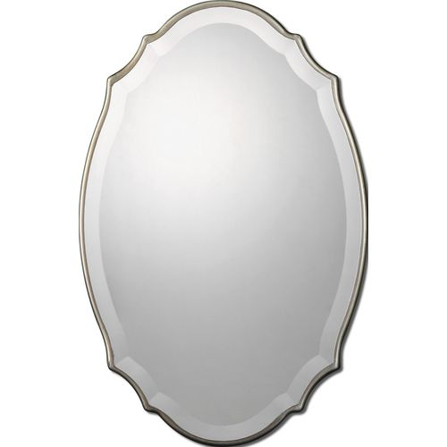 Allen Roth 40-in L x 30-in W Bronze Beveled Wall Mirror
