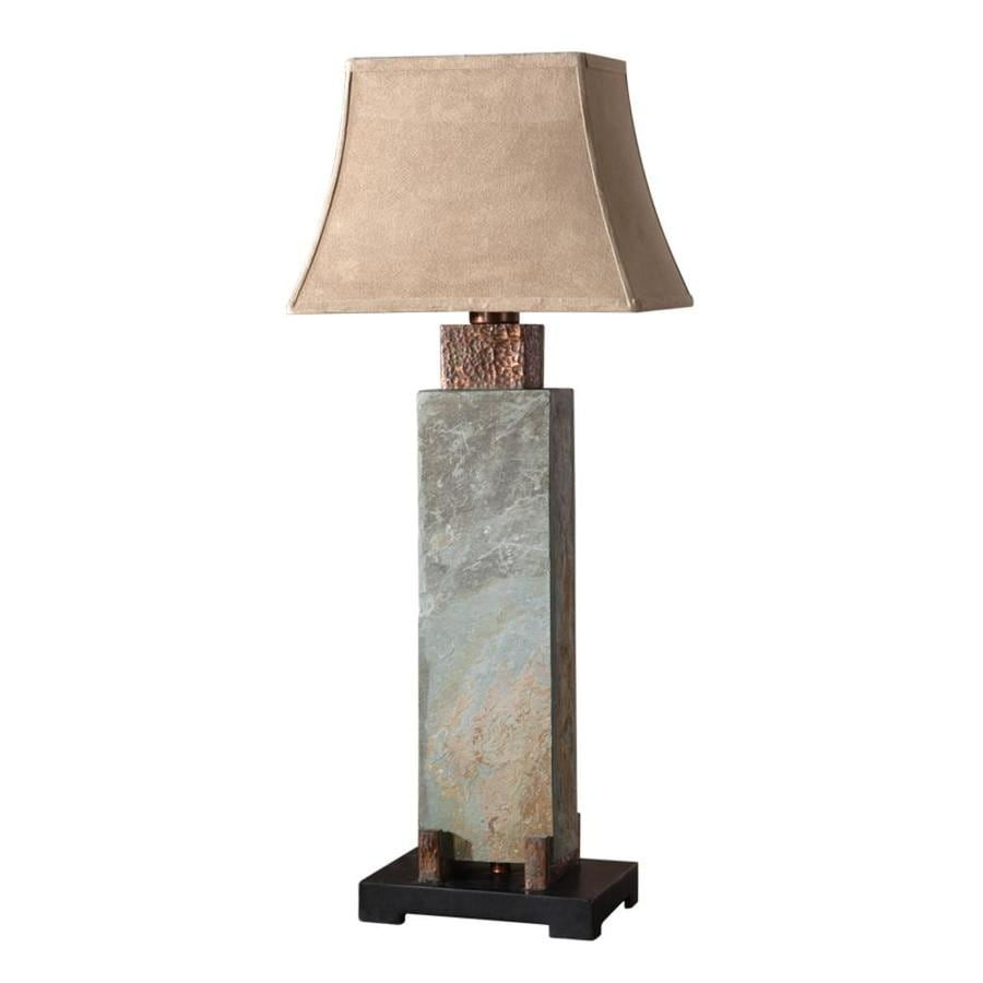 Global Direct 37-in Multiple Colors/Finishes Table Lamp with Fabric Shade
