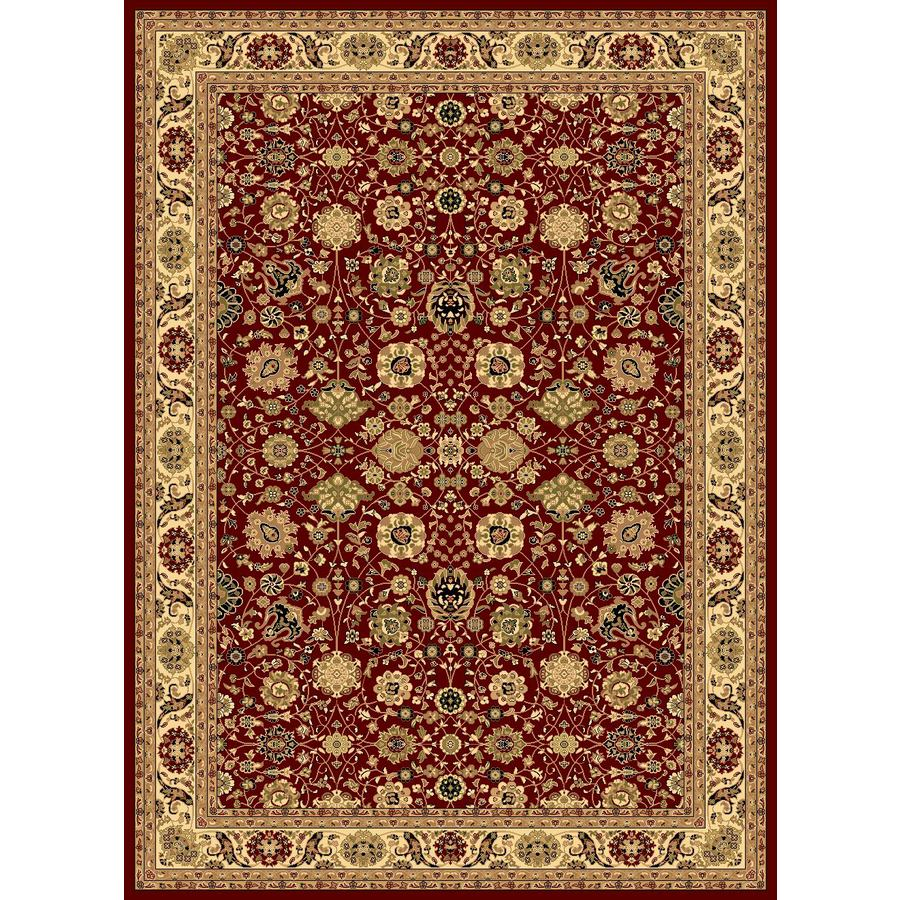 Rugs America New Vision Rectangular Red Floral Woven Area Rug (Common: 4-ft x 6-ft; Actual: 3.91-ft x 5.25-ft)