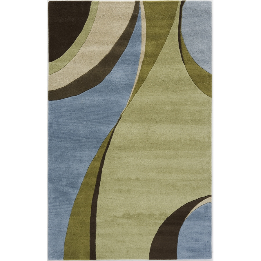 Rugs America 5-ft x 8-ft Jamison Sky Flores Area Rug