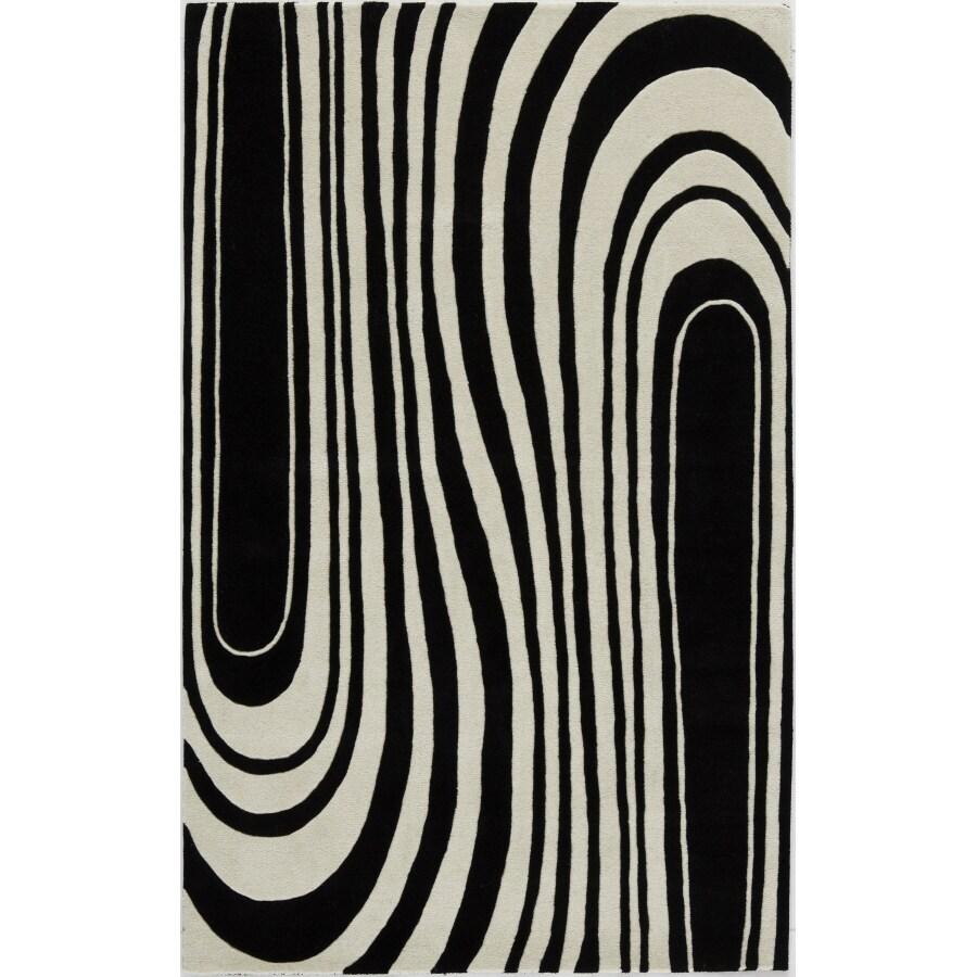 Rugs America 18-in x 27-in Zebra Flores Accent Rug