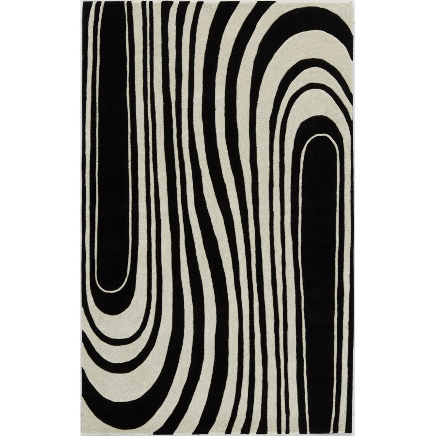 Rugs America 3-ft 6-in x 5-ft 6-in Zebra Flores Area Rug