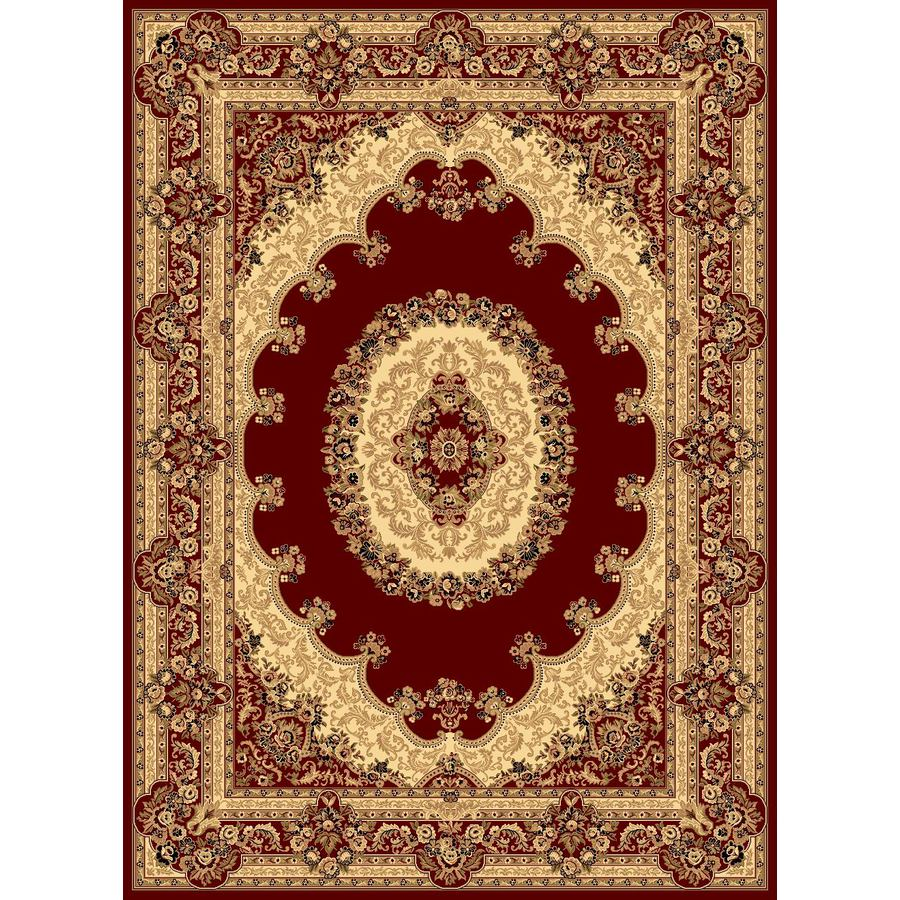 Rugs America New Vision Kerman Red Rectangular Indoor Woven Area Rug (Common: 8 x 10; Actual: 7.8333-ft W x 10.8333-ft L)