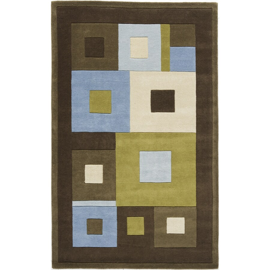 Rugs America 18-in x 27-in Sky Tribeca Tiles Accent Rug