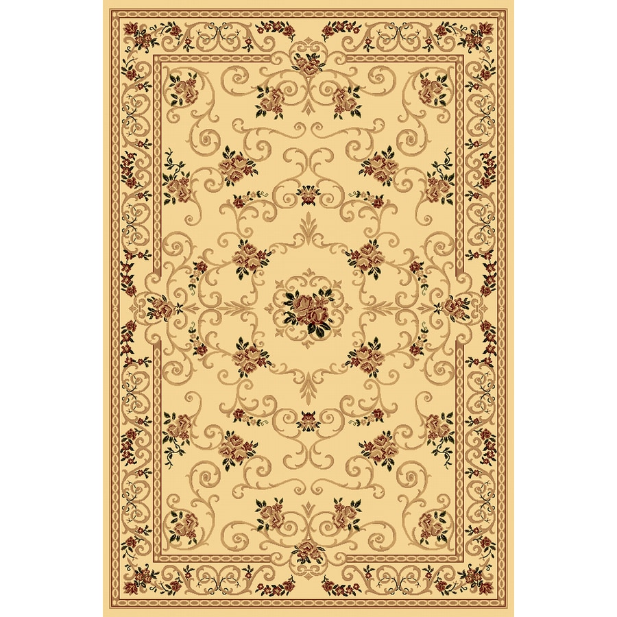 Rugs America New Vision Souvanerie Cream Rectangular Indoor Woven Area Rug (Common: 8 x 10; Actual: 94-in W x 130-in L)