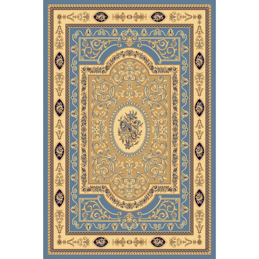 Rugs America New Vision 7-ft 10-in x 10-ft 10-in Rectangular Blue Floral Area Rug
