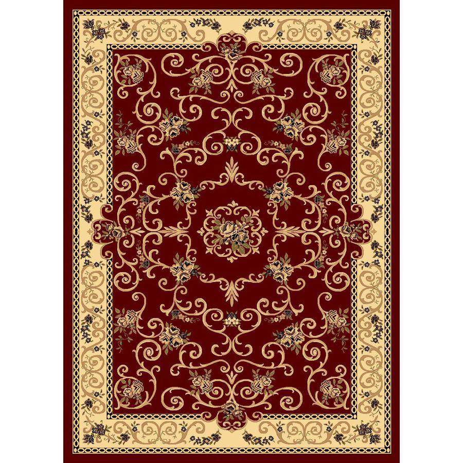 Rugs America New Vision Rectangular Red Floral Woven Accent Rug (Common: 2-ft x 3-ft; Actual: 24-in x 35-in)