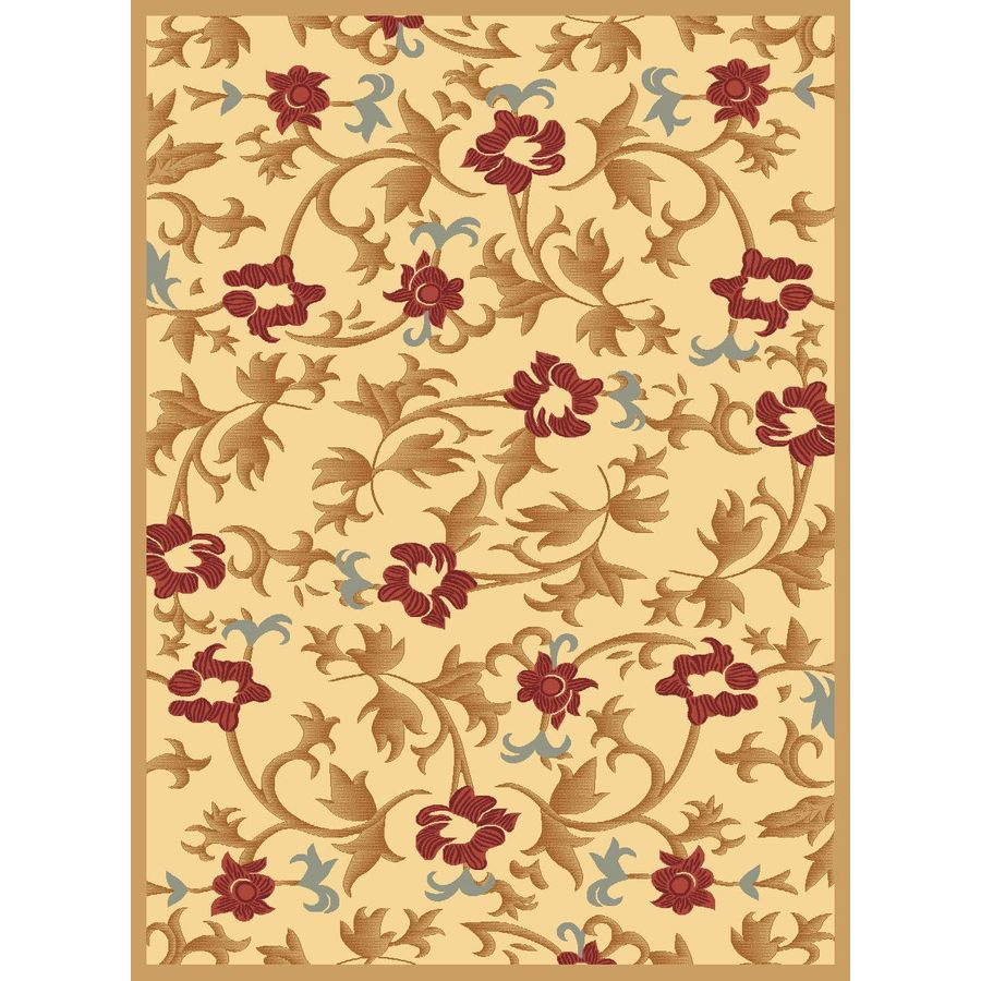 Rugs America Torino Rectangular Cream Transitional Woven Area Rug (Common: 4-ft x 6-ft; Actual: 3.91-ft x 5.25-ft)