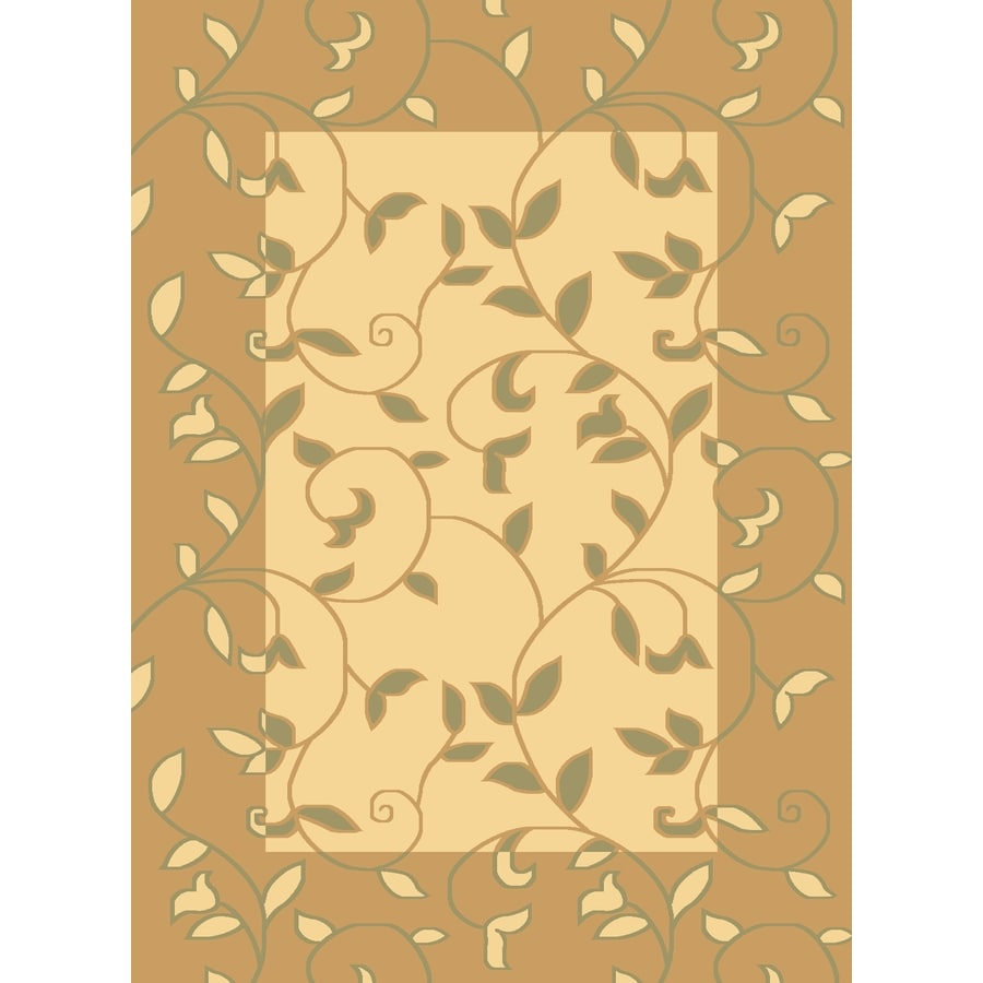 Rugs America Torino Vineyard Cream Rectangular Indoor Woven Area Rug (Common: 4 x 6; Actual: 47-in W x 63-in L)