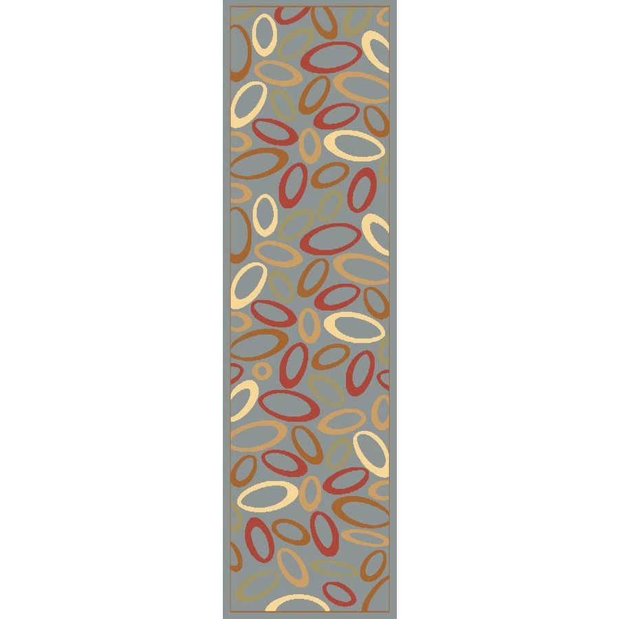 Rugs America Torino Blue Woven Runner (Common: 2-ft x 8-ft; Actual: 2.25-ft x 7.833-ft)