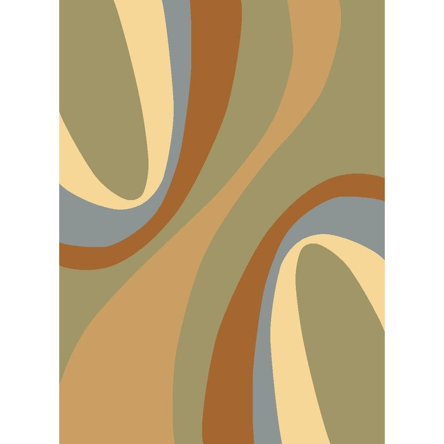 Rugs America Torino Rectangular Green Transitional Woven Area Rug (Common: 4-ft x 6-ft; Actual: 3.91-ft x 5.25-ft)