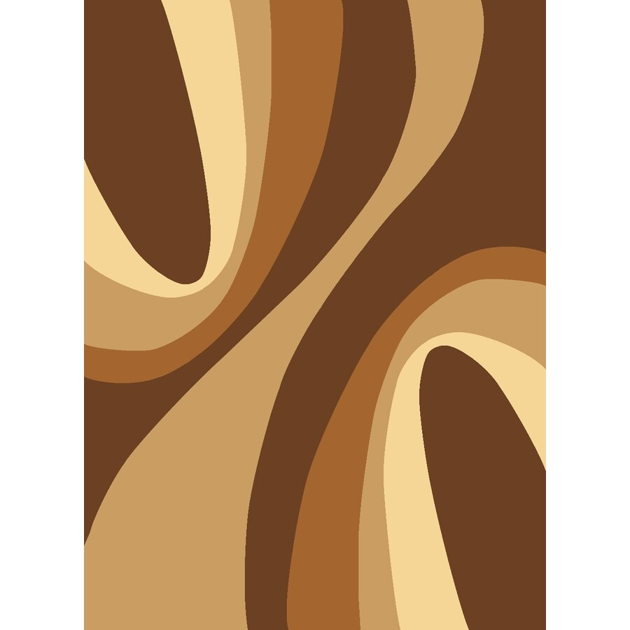 Rugs America Torino Rectangular Brown Transitional Woven Area Rug (Common: 8-ft x 10-ft; Actual: 7.83-ft x 10.83-ft)
