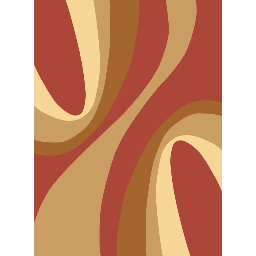 Rugs America Torino Rectangular Orange Transitional Woven Area Rug (Common: 8-ft x 10-ft; Actual: 7.83-ft x 10.83-ft)