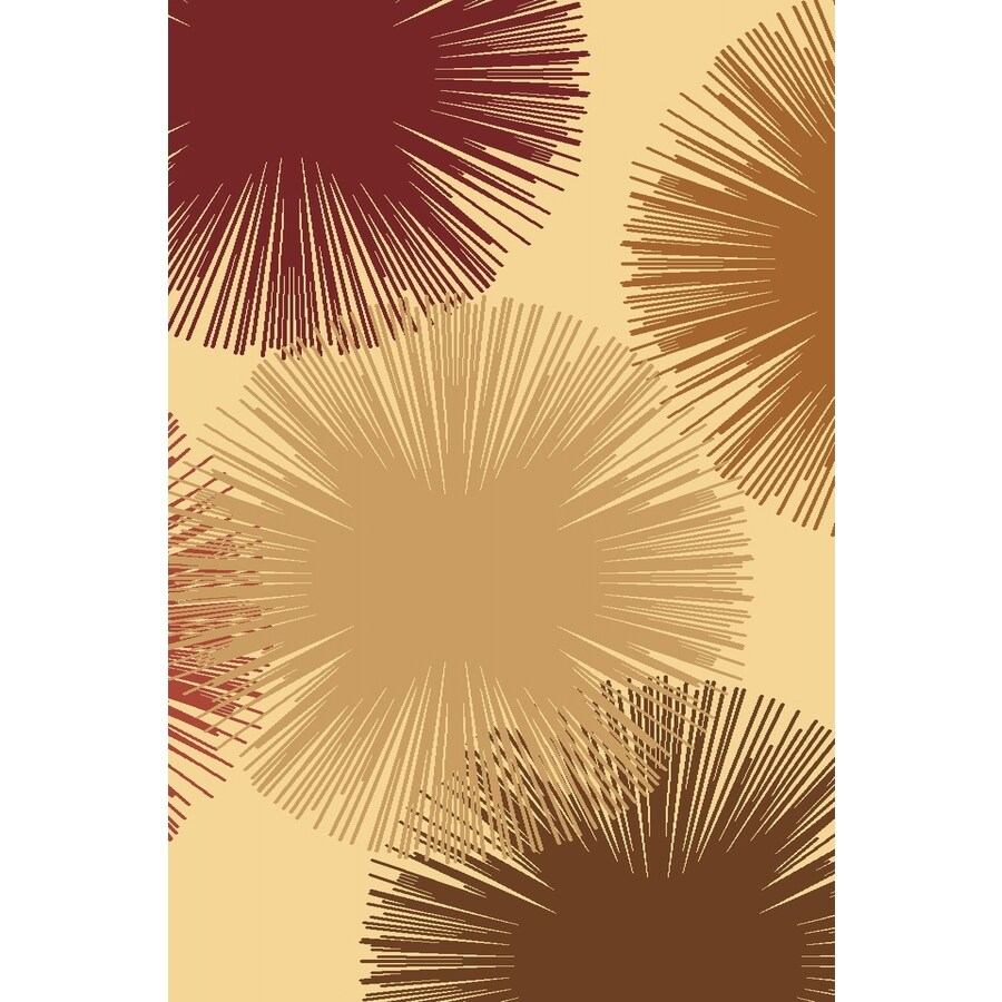 Rugs America Torino Fireworks Cream Rectangular Indoor Woven Area Rug (Common: 4 x 6; Actual: 47-in W x 63-in L)