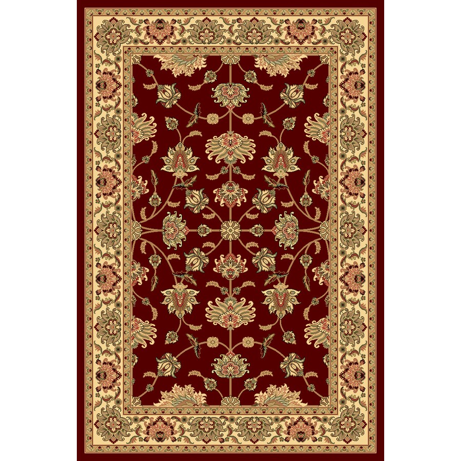 Rugs America New Vision Kashan Cherry Rectangular Indoor Woven Throw Rug (Common: 2 x 3; Actual: 24-in W x 35-in L)