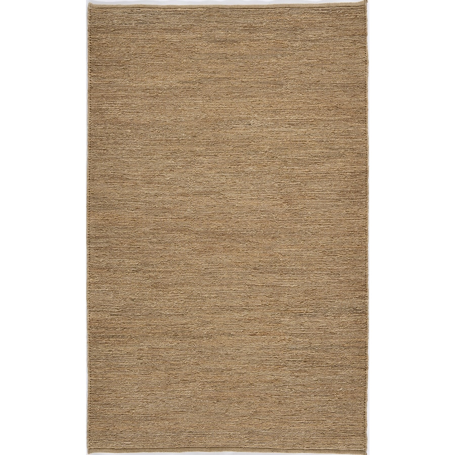 Rugs America Chelsea 5-ft x 8-ft Rectangular Cream Solid Jute Area Rug