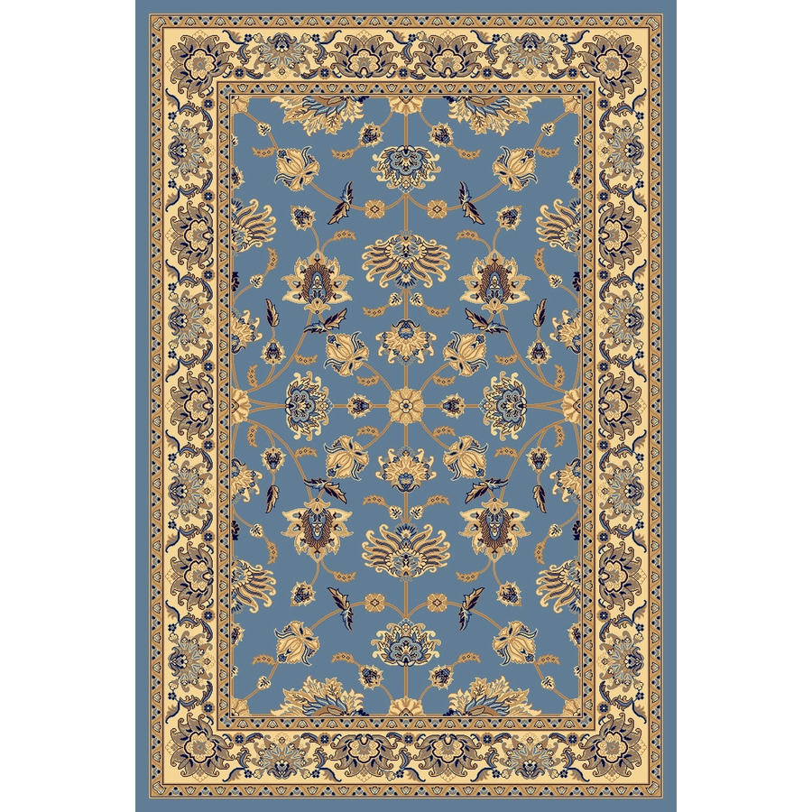 Rugs America New Vision Rectangular Blue Floral Woven Area Rug (Common: 9-ft x 12-ft; Actual: 9.83-ft x 13.16-ft)