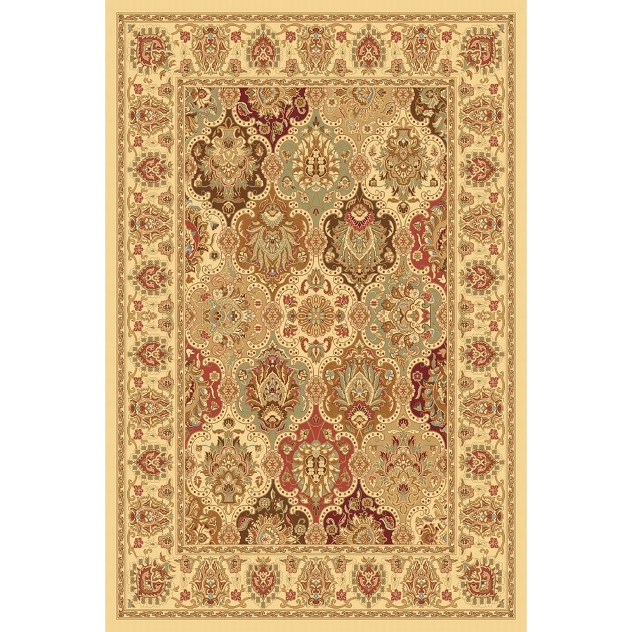 Rugs America New Vision Rectangular Cream Floral Woven Area Rug (Common: 9-ft x 12-ft; Actual: 9.83-ft x 13.16-ft)