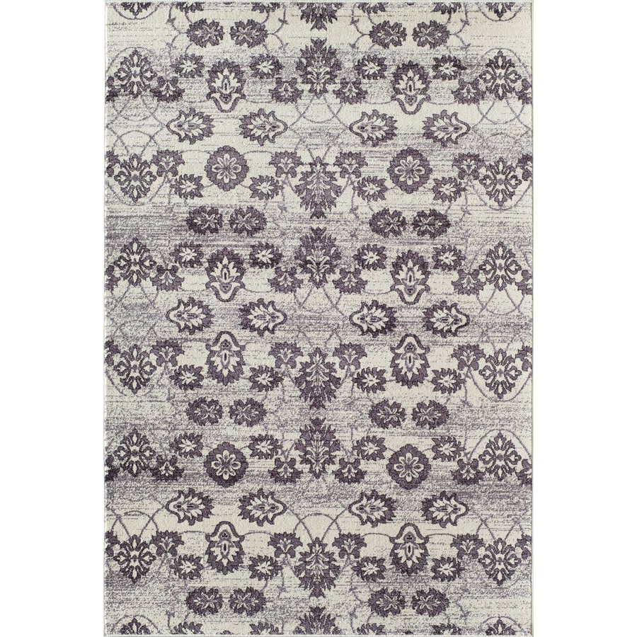Shop Rugs America Carmen Pastel Plum Rectangular Indoor