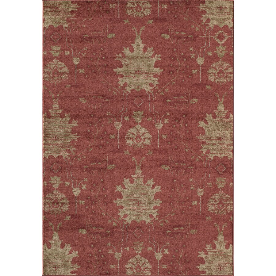 Rugs America Rallye Amber Red Rectangular Indoor Woven Area Rug (Common: 4 x 6; Actual: 3.9166-ft W x 5.25-ft L)