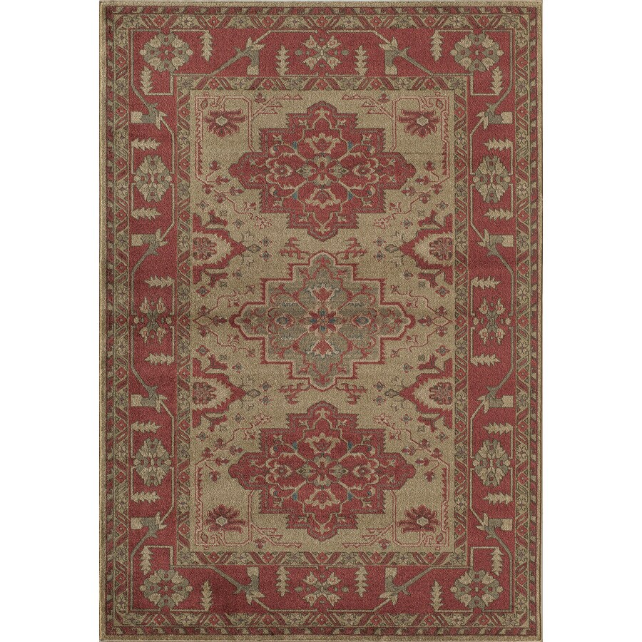 Rugs America Ziegler Cherry Rectangular Indoor Woven Area Rug (Common: 10 x 13; Actual: 118-in W x 158-in L)