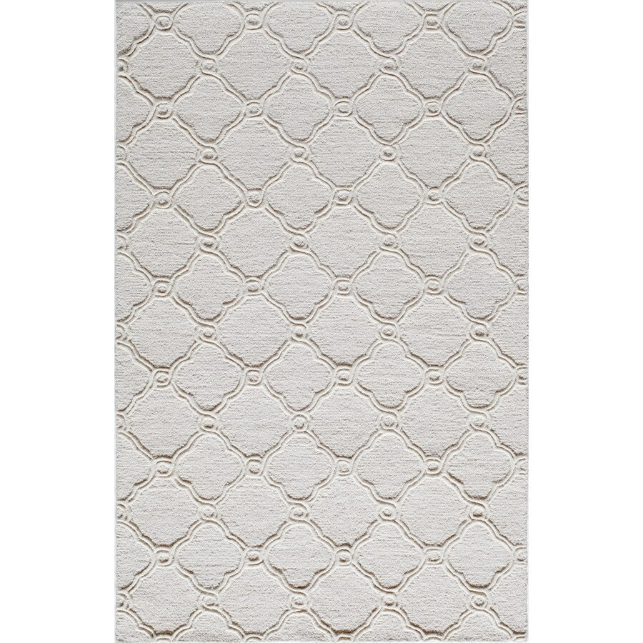 Rugs America Soho Coastal Ivory Rectangular Indoor Tufted Area Rug (Common: 8 x 10; Actual: 8-ft W x 10-ft L)
