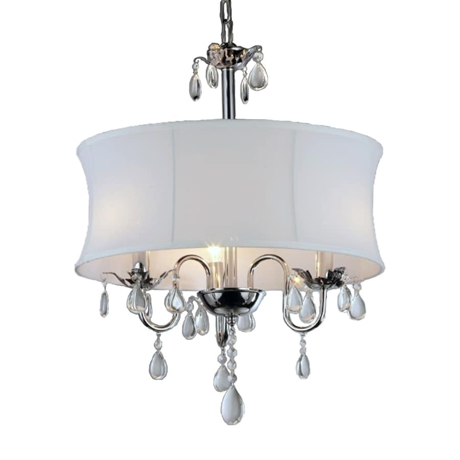 Chandelier Lighting Accessories: Home Accessories Inc 3-Light Chrome Transitional Drum