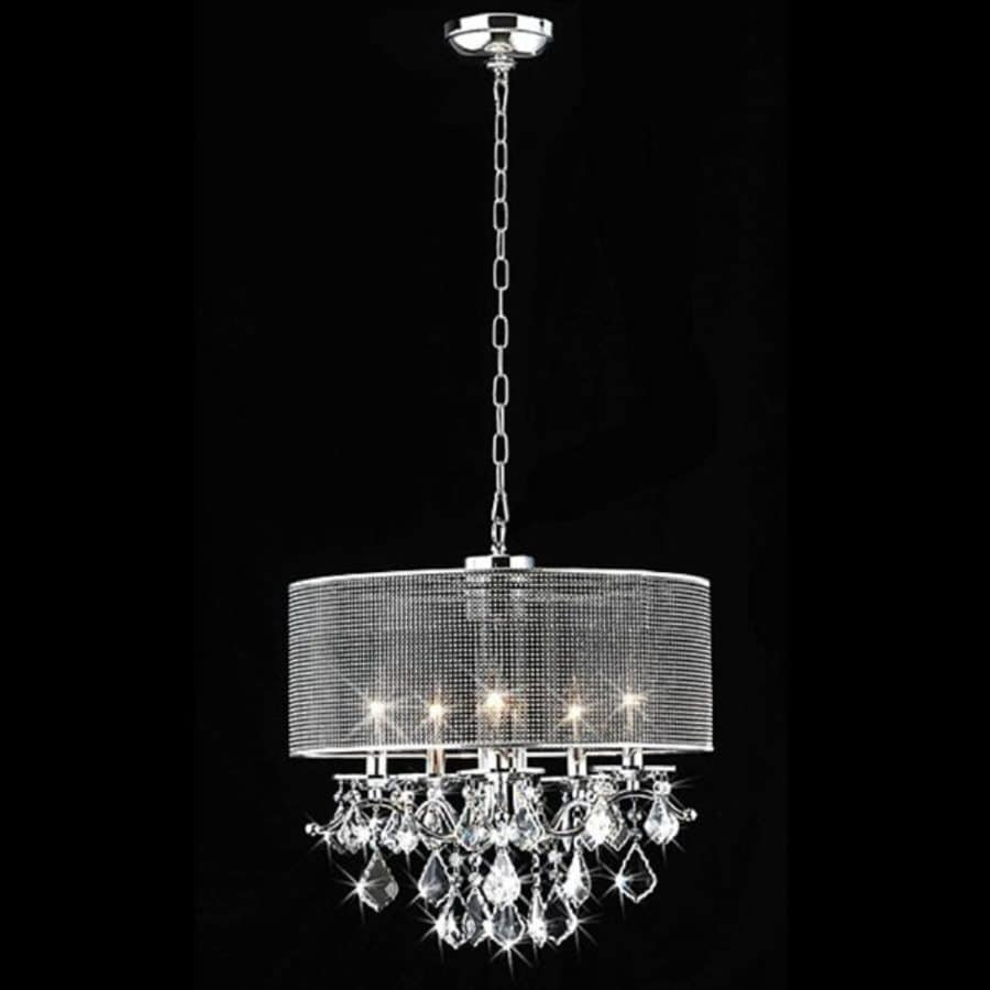 Chandelier Lighting Accessories: Home Accessories Inc 5-Light Chrome Transitional Drum