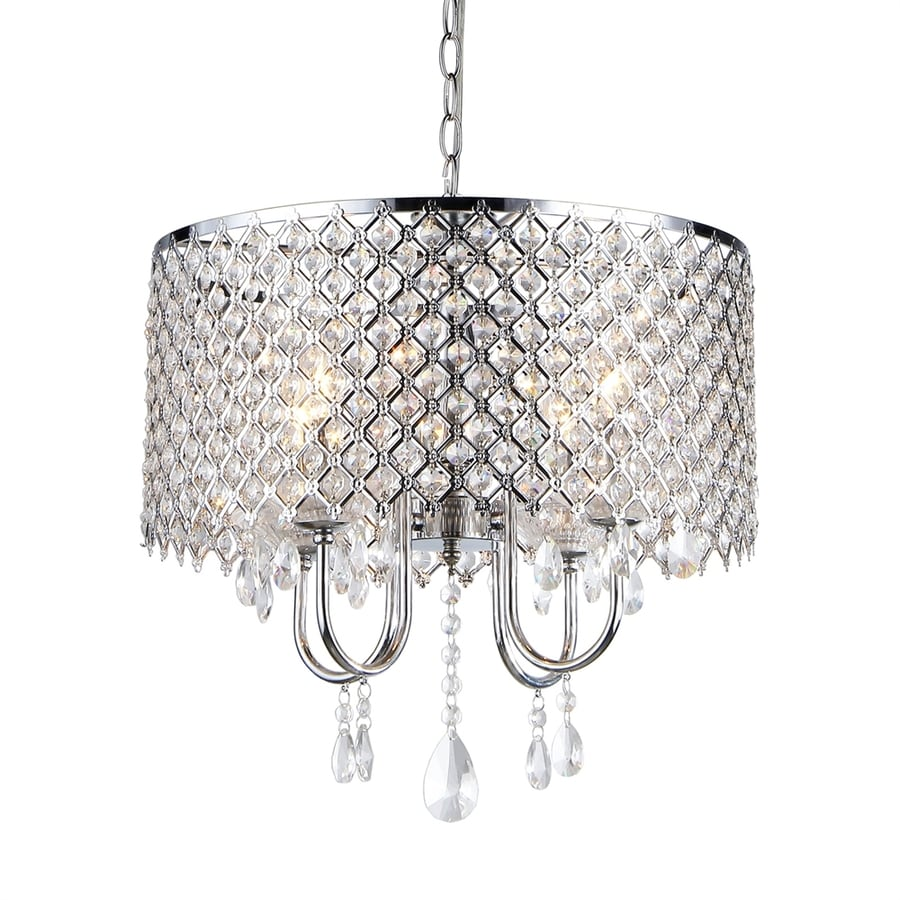 Chandelier Lighting Accessories: Home Accessories Inc 4-Light Silver Traditional Cage