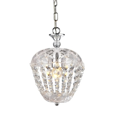 Adelaide Silver Chrome Traditional Clear Gl Jar Pendant Light