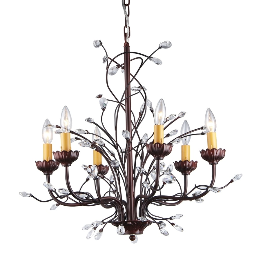 Chandelier Lighting Accessories: Home Accessories Inc 6-Light Bronze Modern/Contemporary