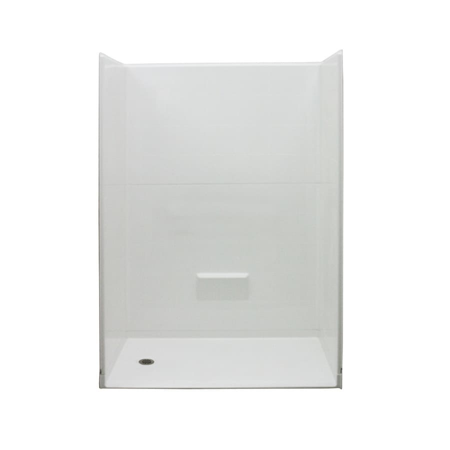 Shop Laurel Mountain White 5-Piece Alcove Shower Kit (Common: 32-in ...