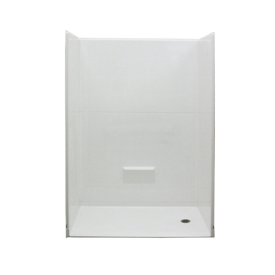 Laurel Mountain Harriman Low Zero Threshold - Barrier Free White Acrylic Wall and Floor 5-Piece Alcove Shower Kit (Common: 32-in x 54-in; Actual: 78-in x 31-in x 54-in)