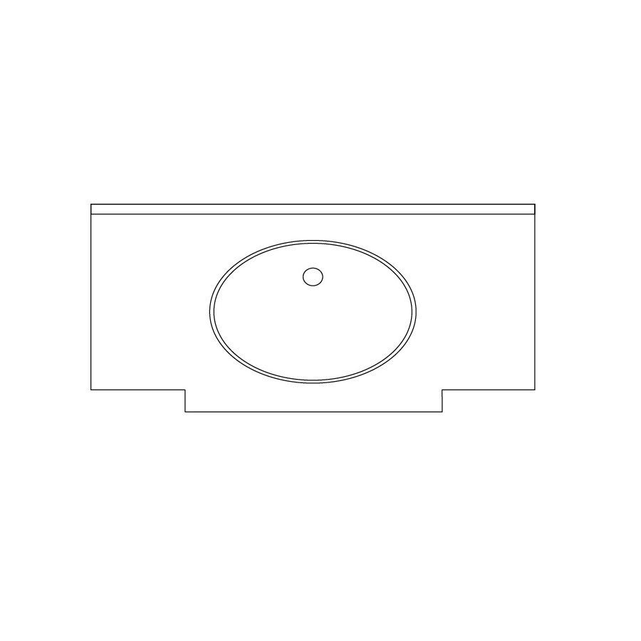 US Marble Marquee Baroque Aspen Solid Surface Undermount Bathroom Vanity Top (Common: 25-in x 24-in; Actual: 25-in x 23.25-in)
