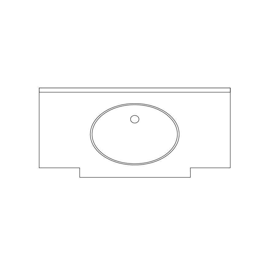 US Marble Marquee Baroque Aspen Solid Surface Undermount Bathroom Vanity Top (Common: 49-in x 24-in; Actual: 48.5-in x 23.25-in)